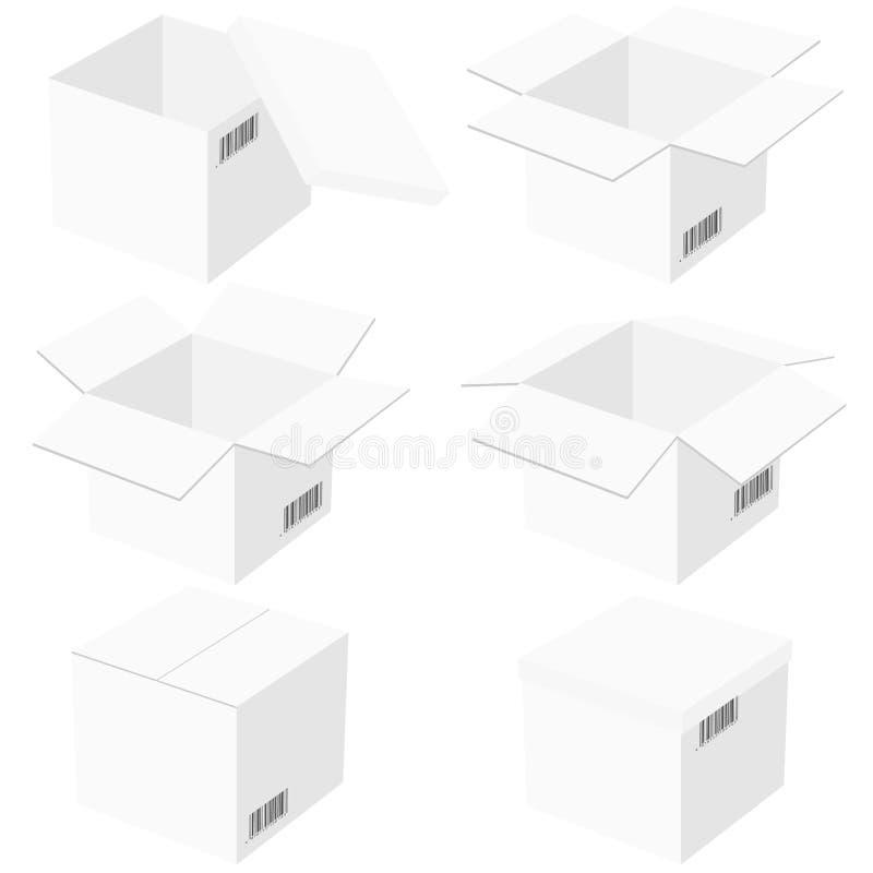 Download Zes Dozen, Die Op Witte Achtergrond Worden Geïsoleerdz. Vector Illustratie - Illustratie bestaande uit koopwaar, groep: 29514882