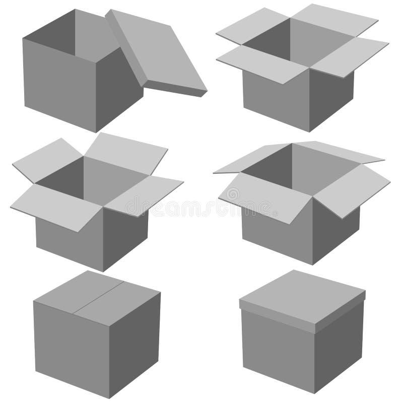 Download Zes Dozen, Die Op Witte Achtergrond Worden Geïsoleerdz. Vector Illustratie - Illustratie bestaande uit leeg, kleinhandels: 29514894