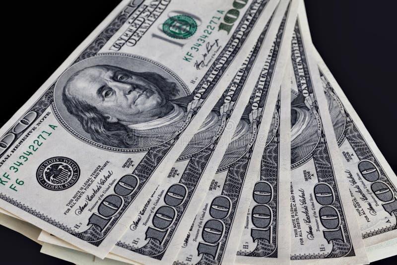 Zes honderd de dollar van Verenigde Staten bankbiljetten stock foto's