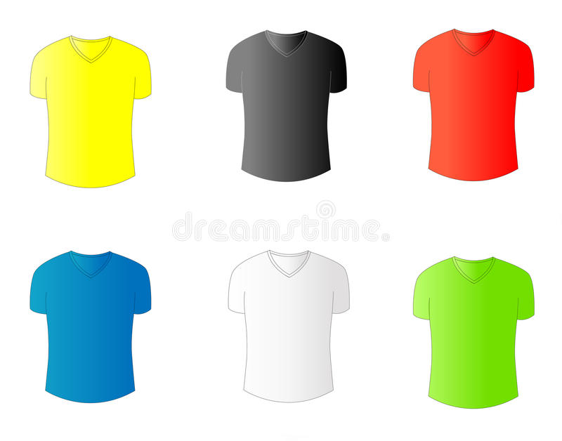 Zes stijlent-shirt royalty-vrije stock afbeelding