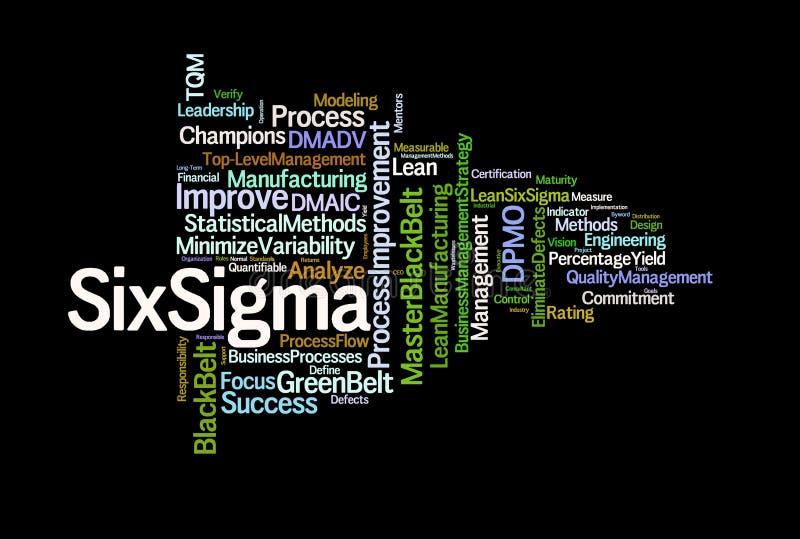 Zes Termen van de Sigma vector illustratie