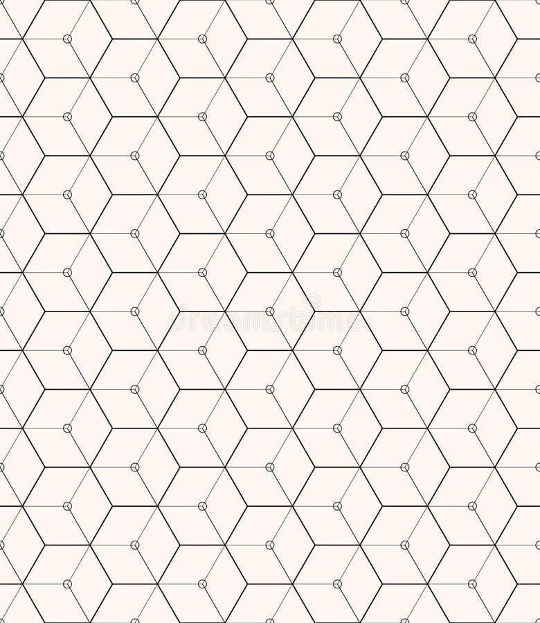 Zeshoeken grijs vector eenvoudig naadloos patroon royalty-vrije illustratie