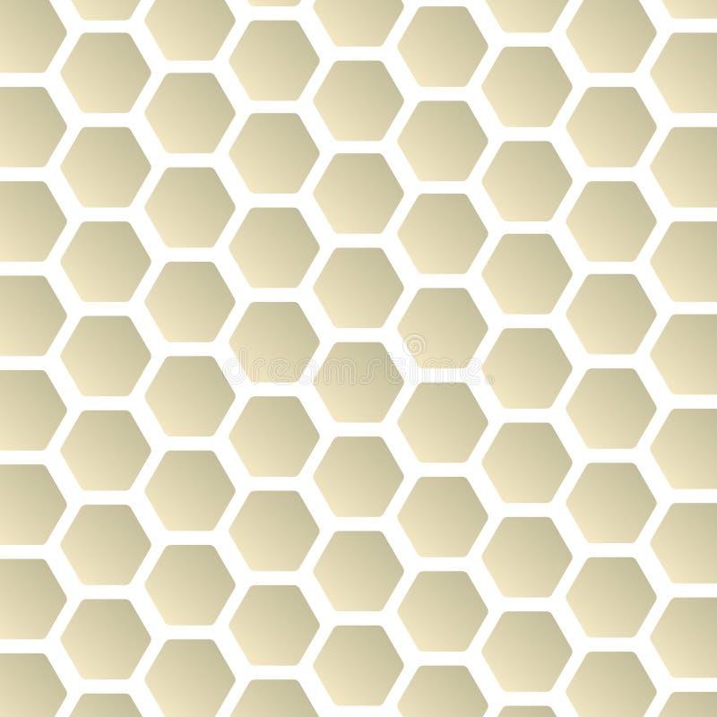Zeshoekentextuur. Naadloos geometrisch patroon. vector illustratie