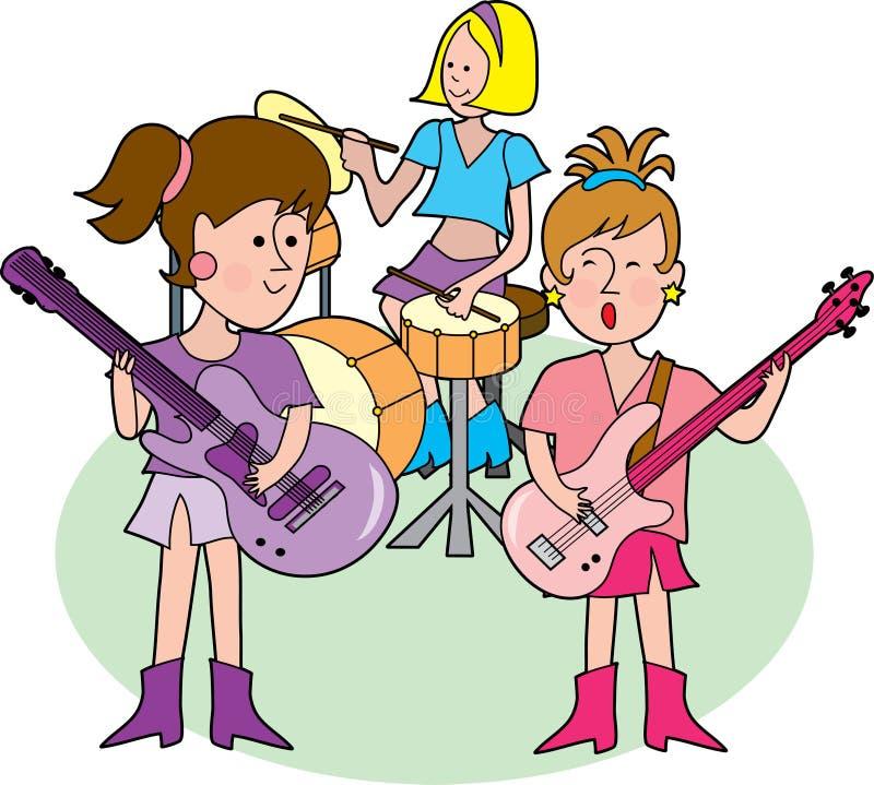 zespół girly rock ilustracji