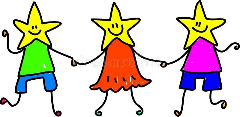 zespół gwiazd royalty ilustracja