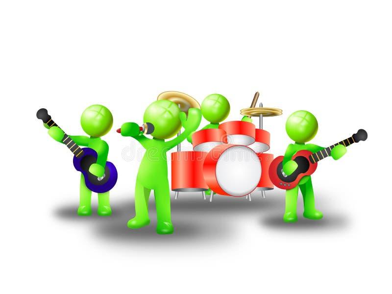 zespół muzyka royalty ilustracja