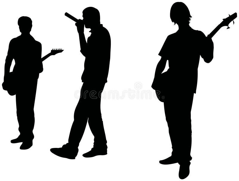 zespół muzyka skały nastolatki royalty ilustracja