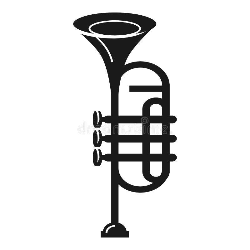 Zespół tubowa ikona, prosty styl ilustracji