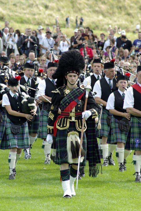 zespołu Edinburgh drymba zdjęcia royalty free