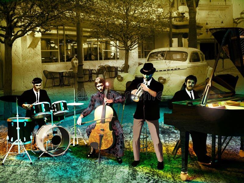 zespołu jazz royalty ilustracja