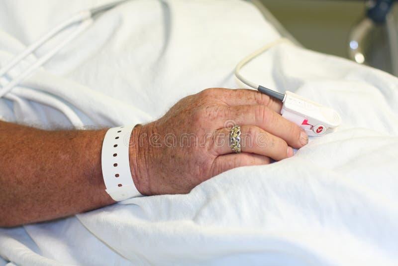 zespołu ręki pacjenta szpitala s nadgarstek obraz royalty free