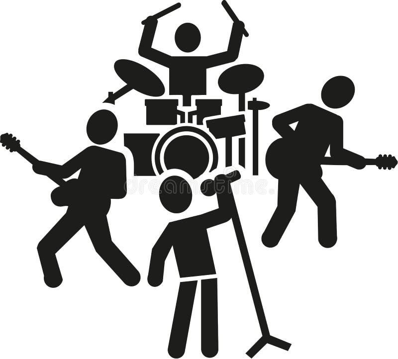Zespołu rockowego piktogram ilustracji