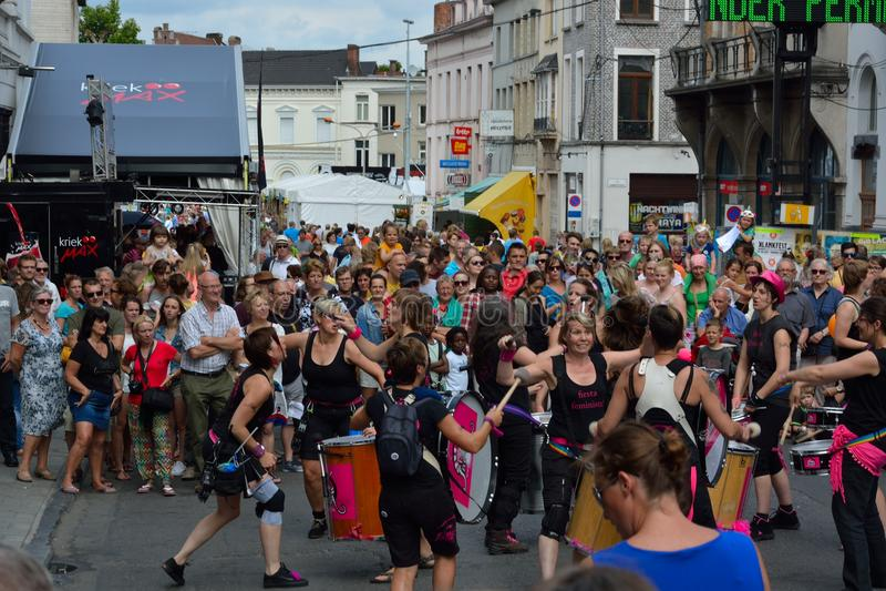 zespołu spełnianie przy festiwalem Ghent obrazy royalty free