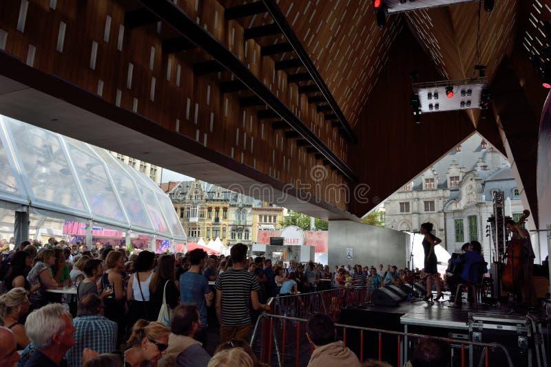zespołu spełnianie przy festiwalem Ghent zdjęcie stock