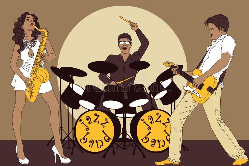 Download Zespołu jazz ilustracja wektor. Obraz złożonej z kolor - 14661771