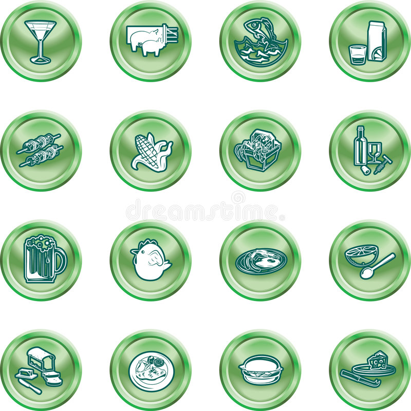 zestaw łańcucha ikony ilustracja wektor