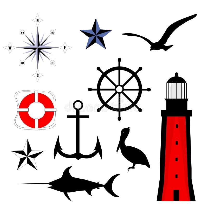zestaw żeglarskie ilustracja wektor