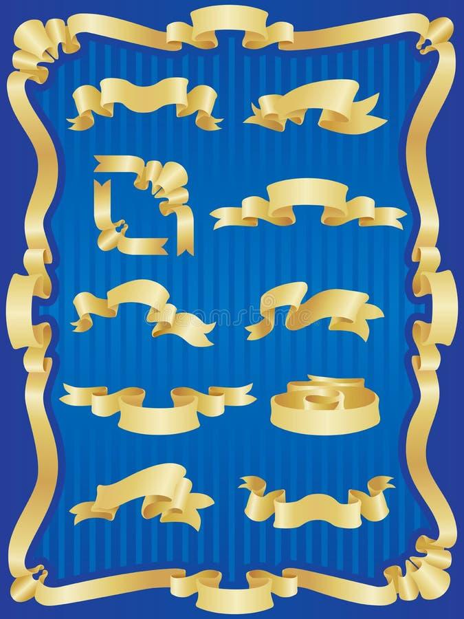 zestaw banner złota