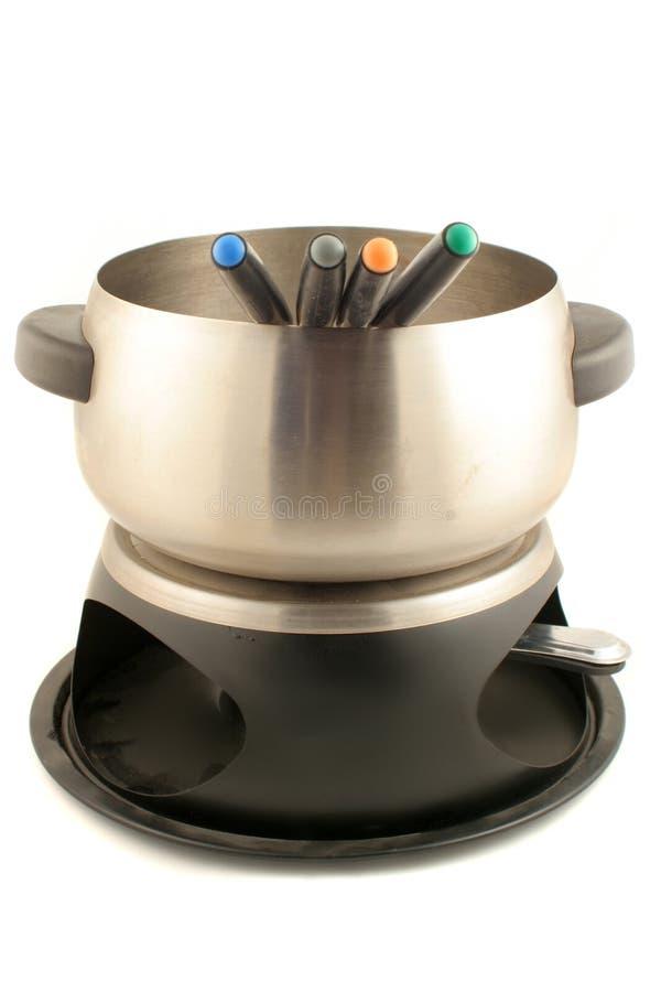 zestaw do fondue fotografia stock