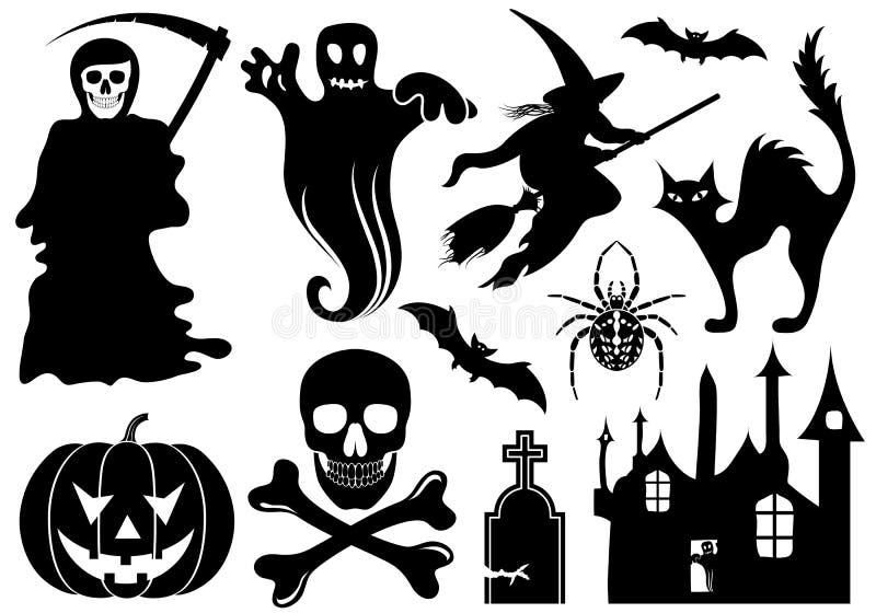 zestaw halloween. ilustracja wektor