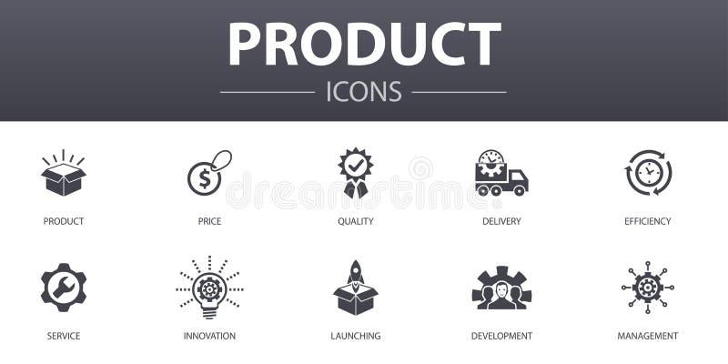 Zestaw ikon koncepcji prostej produktu ilustracja wektor