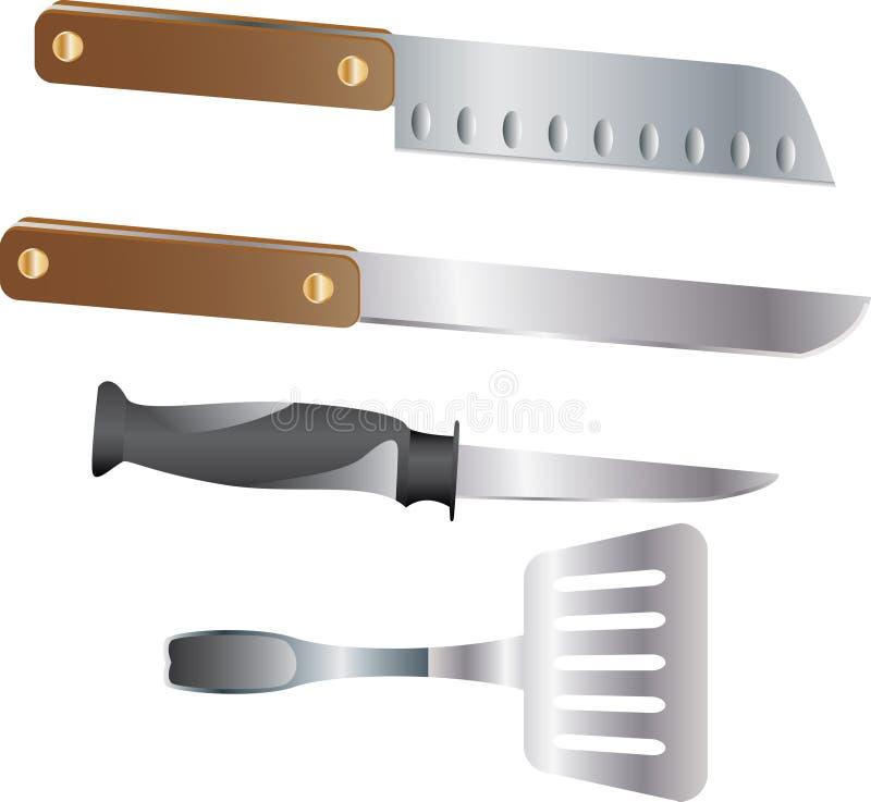 zestaw kuchenny nóż zdjęcia stock