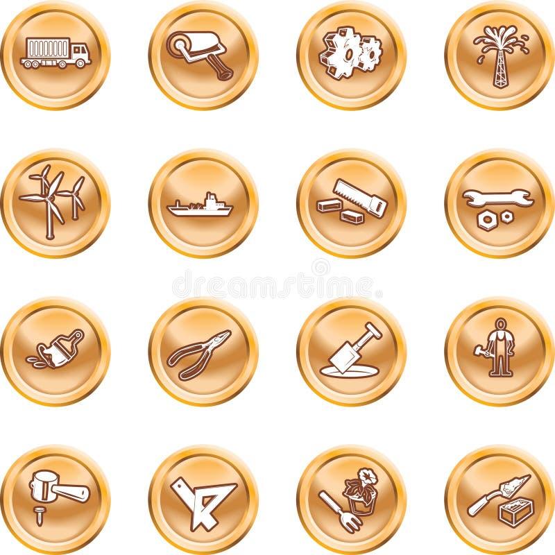 zestaw narzędzi ikona przemysłu ilustracja wektor