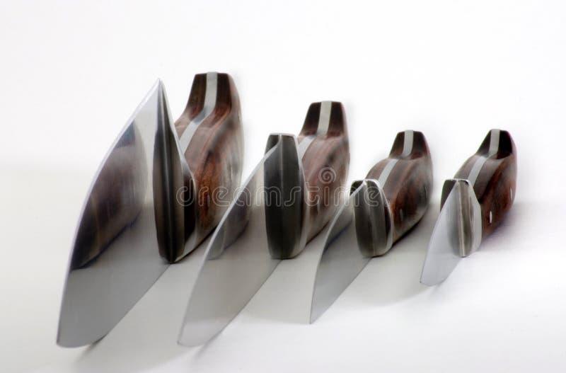zestaw noży fotografia stock