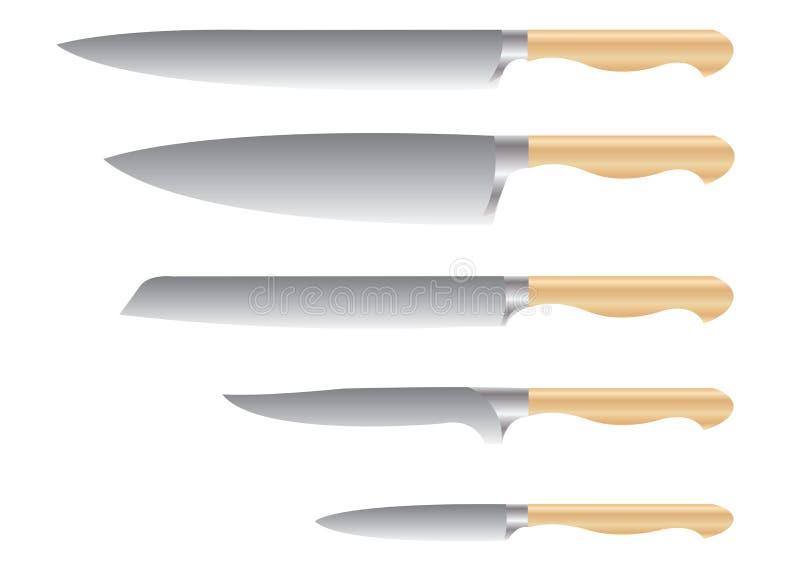 zestaw noży obrazy royalty free