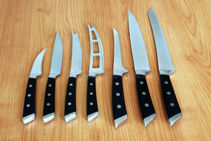 zestaw noży obraz stock