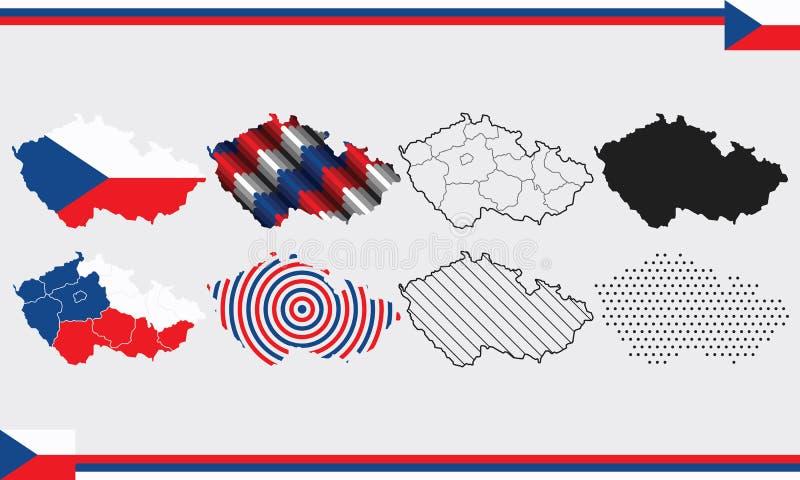 Mapy Czeska Republika Ilustracja Wektor Ilustracja Złożonej