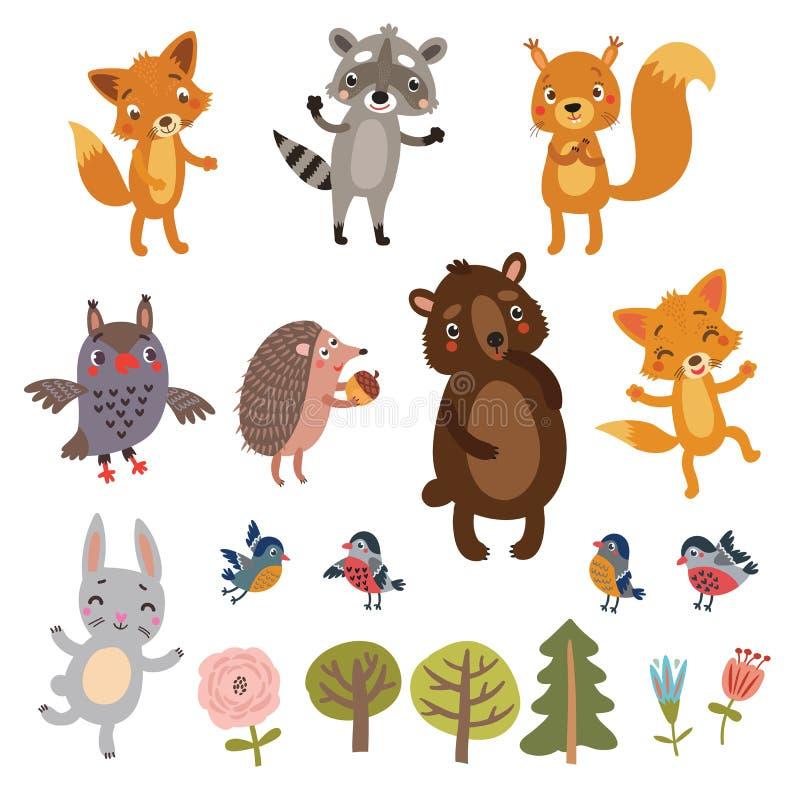 zestaw zwierząt zdjęcie stock