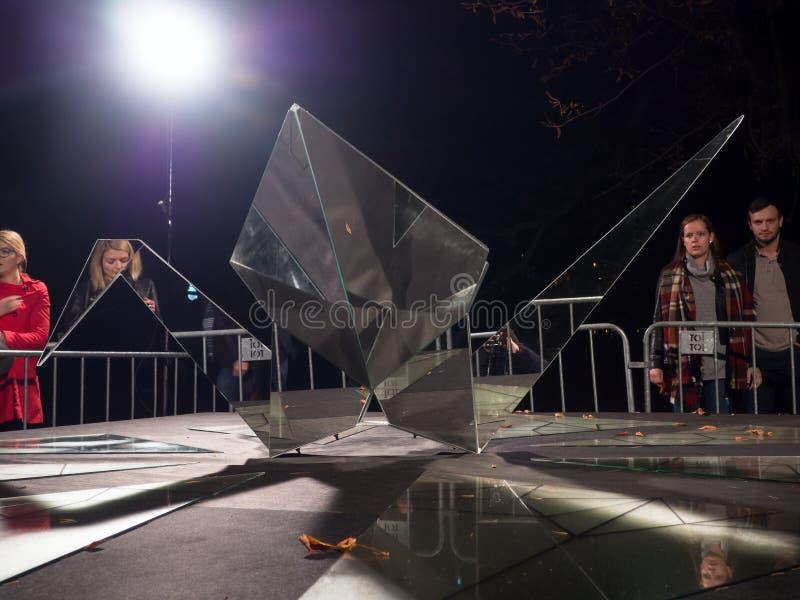 Zestawienie Tets Ohnari na Sygnałowym festiwalu Praga 2017 obrazy stock