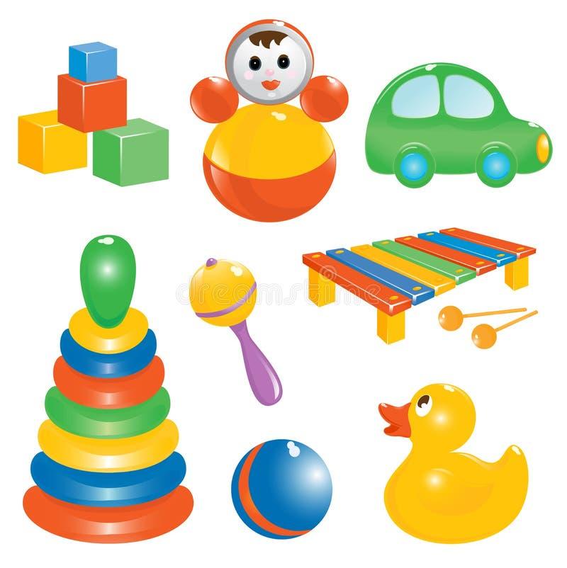 zestawy ikony zabawkę dziecka royalty ilustracja