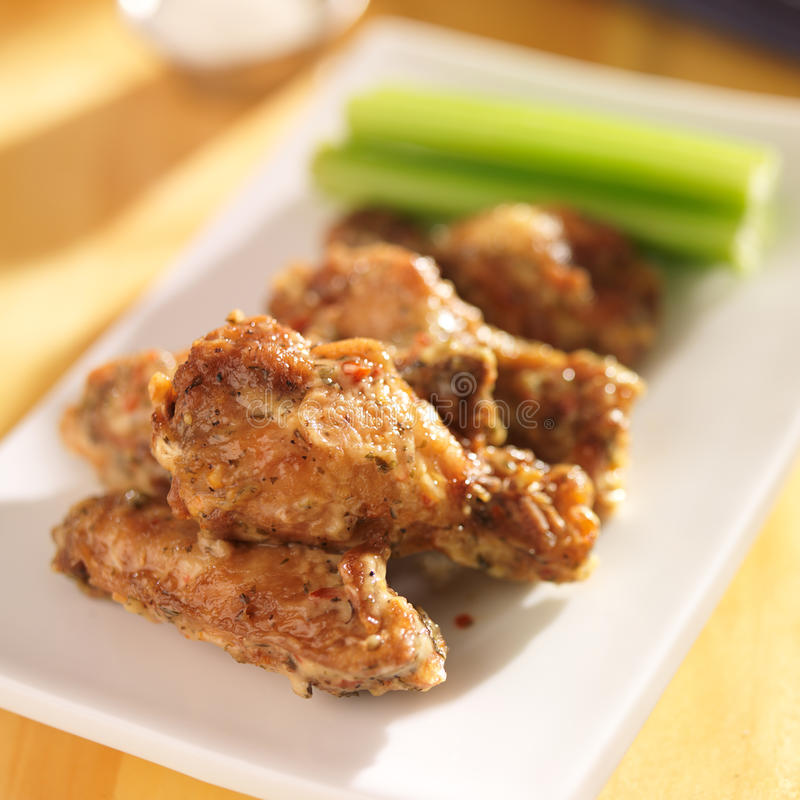 Free Zesty Garlic Parmesan Chicken Wings Stock Photos - 39809653