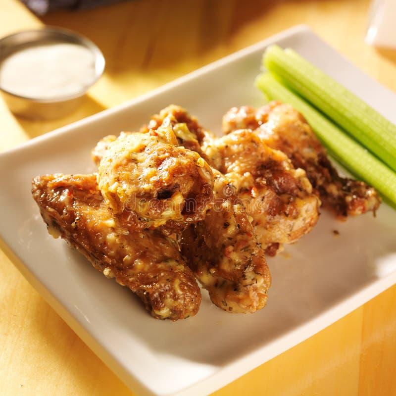 Free Zesty Garlic Parmesan Chicken Wings Stock Image - 39809671