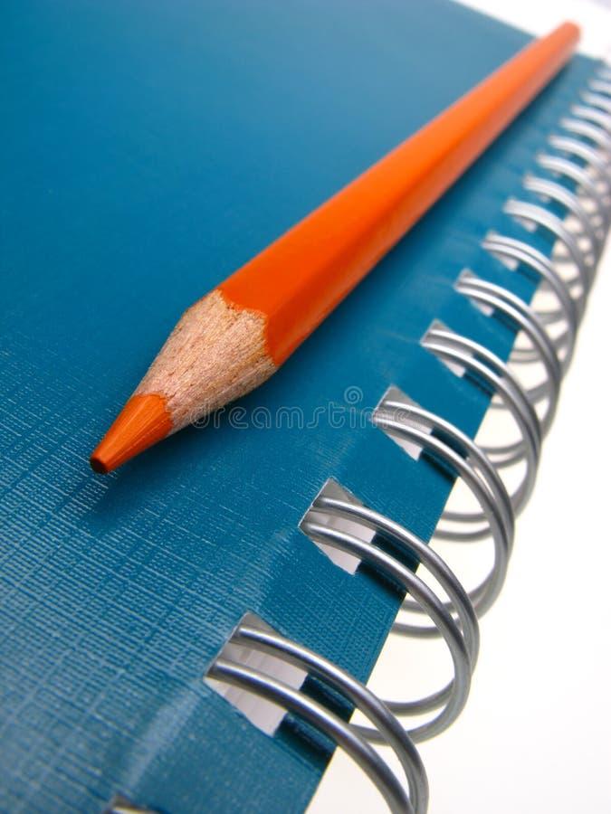 zeszyt ołówek zdjęcie stock