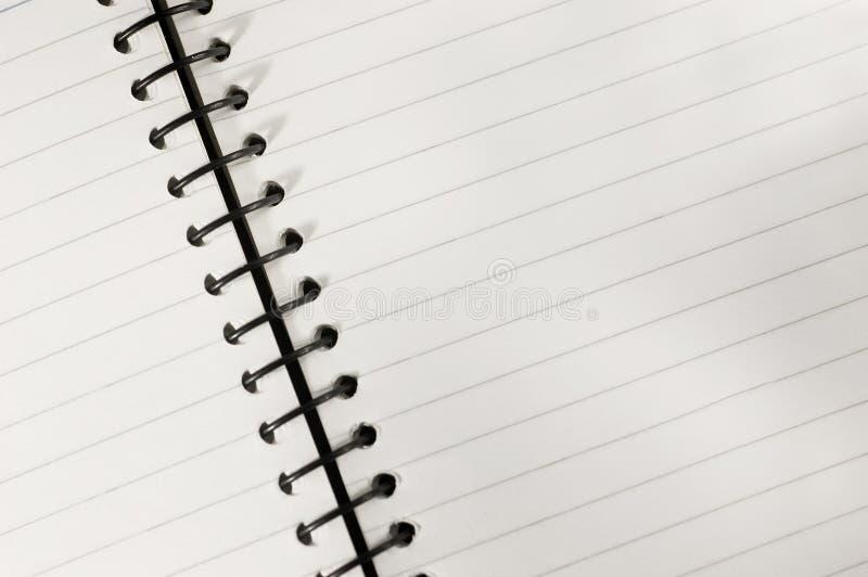 zeszyt spirali obraz stock