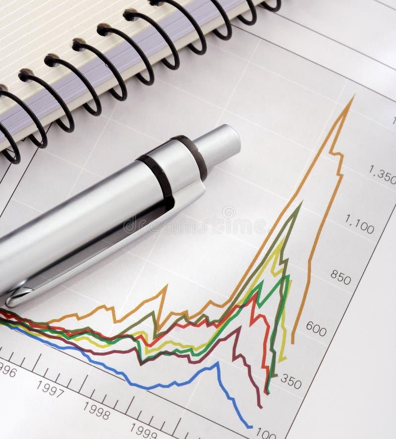 zeszyt wartości długopis zdjęcie stock