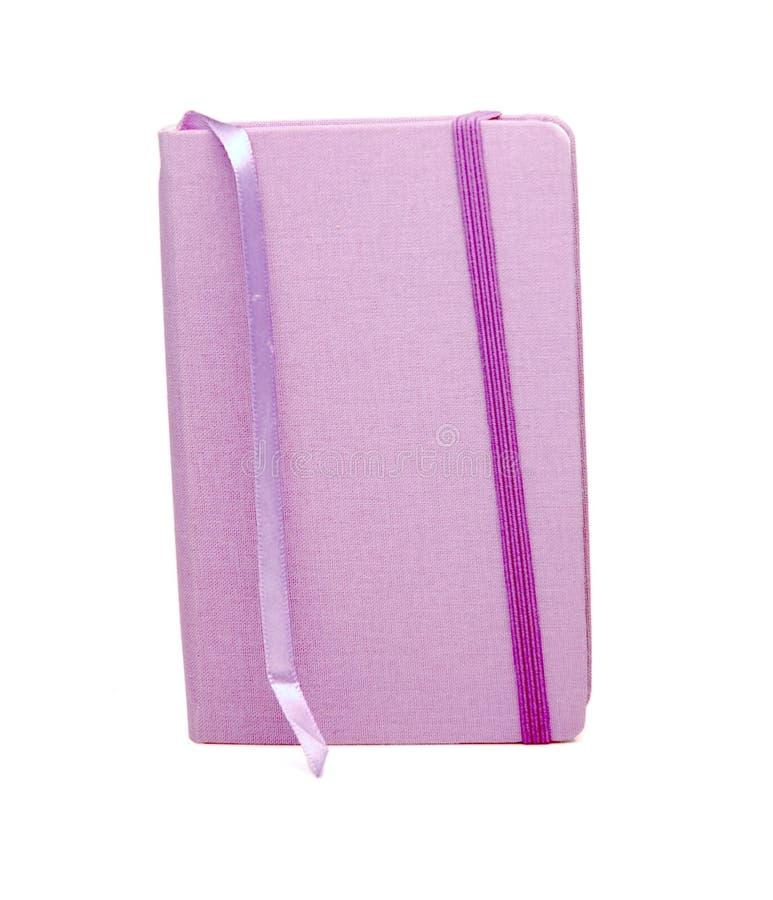 zeszyt zakładki purpurowy fotografia stock