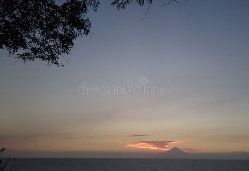 Zet Agung op royalty-vrije stock afbeelding