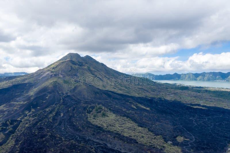 Zet Agung-vulkaanclose-up op royalty-vrije stock foto
