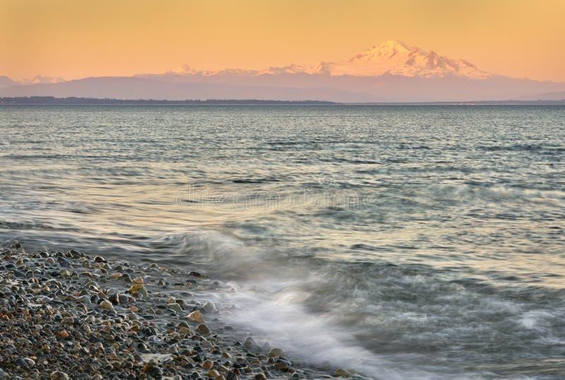 Zet Baker Sunset op royalty-vrije stock fotografie