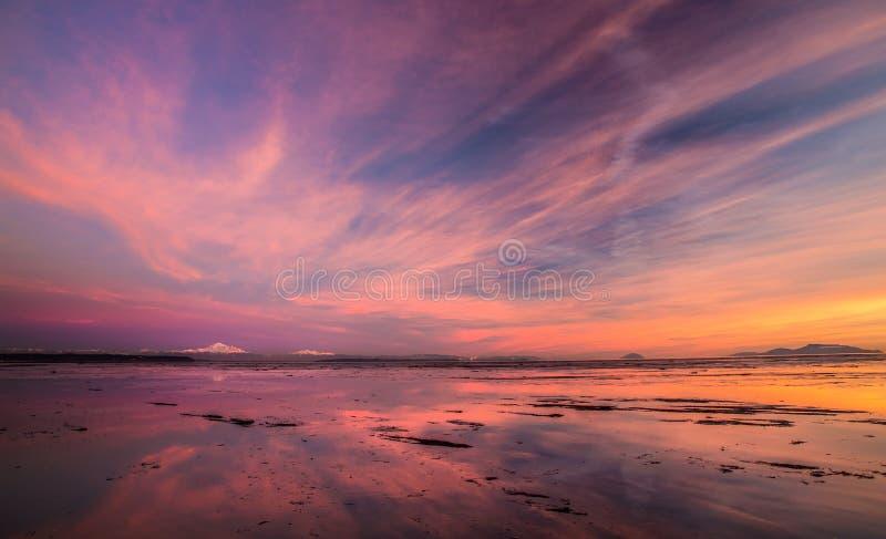 Zet Baker zonsondergang op royalty-vrije stock afbeelding