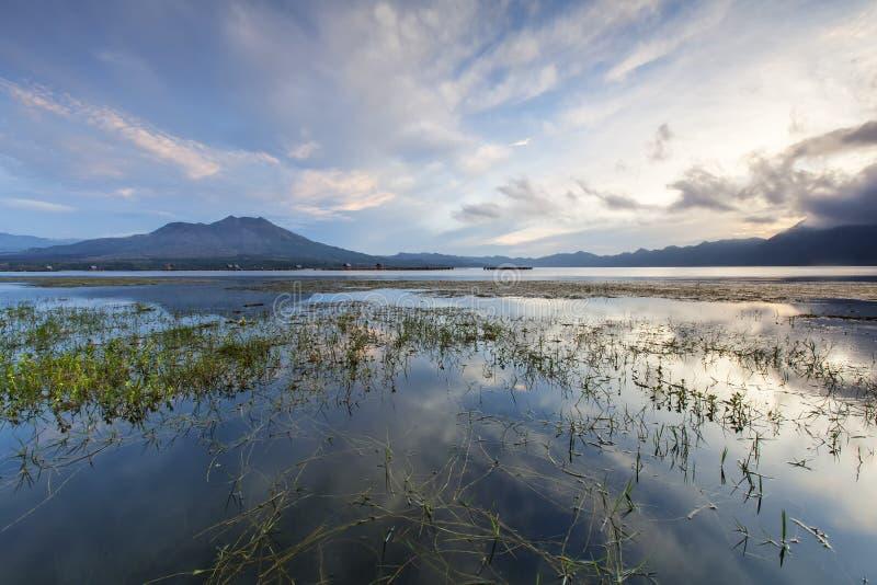 Zet Batur, Bali van op Indonesië stock foto