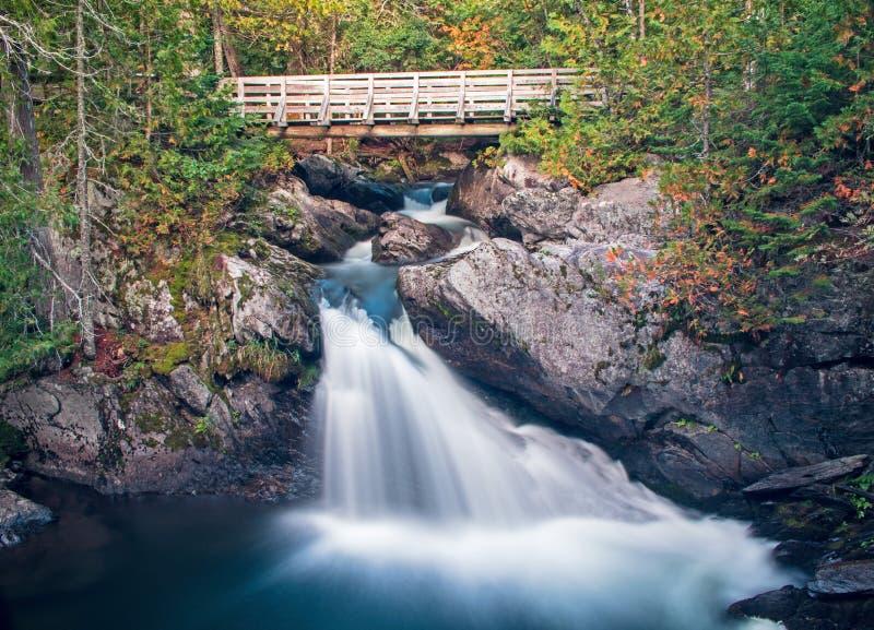 Zet Carleton Provincial Park Waterfalls op royalty-vrije stock foto's