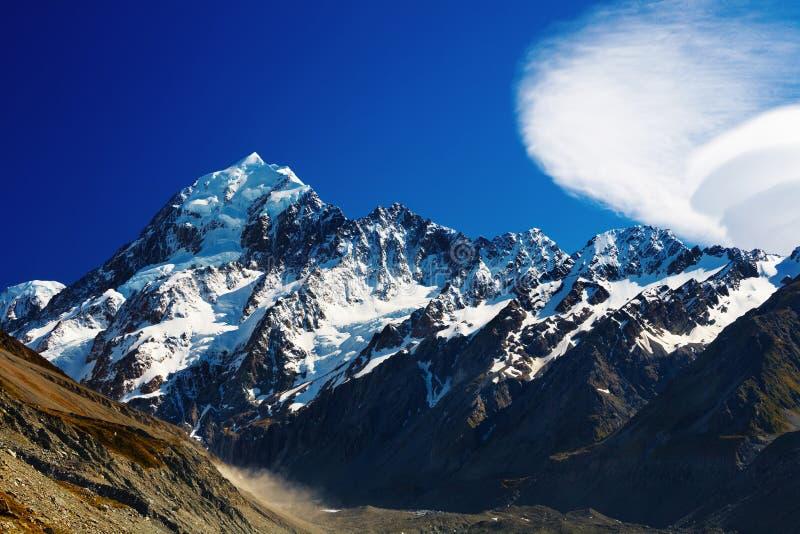 Zet Cook, Nieuw Zeeland op stock afbeelding