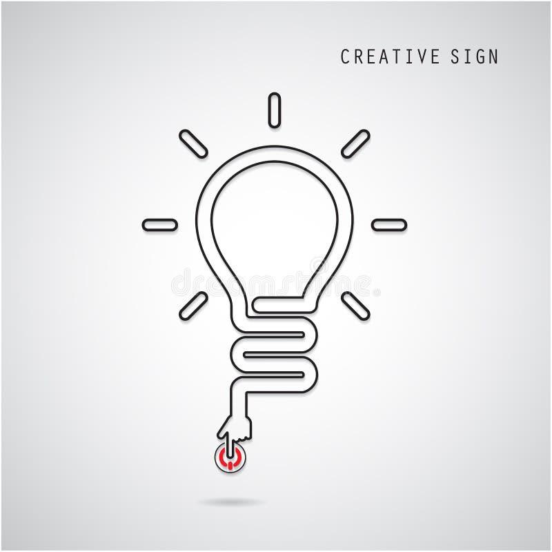 Zet Creatief gloeilampenconcept aan Bedrijfsidee en onderwijs stock illustratie