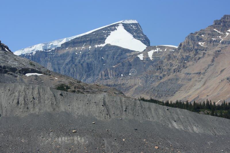 Zet de Koepel van Athabasca en van de Sneeuw op royalty-vrije stock afbeelding