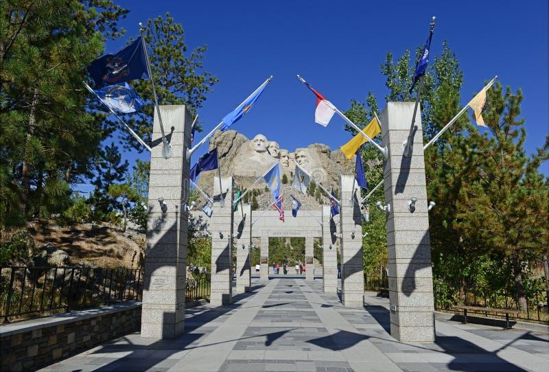 Zet de Nationale Herdenkings, Zwarte Heuvels van Rushmore, Zuid-Dakota, de V.S. op stock foto's